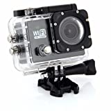 Wifi Action Camera Full HD 1080p Sport Cam DV Diving 30M Waterproof Mini Camaras (Color: Black)