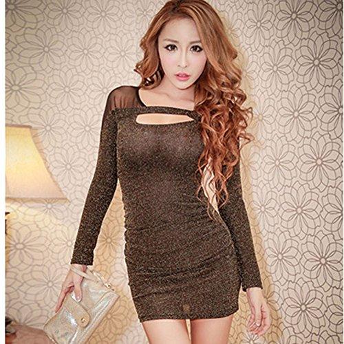 spritech-tm-mujer-sexy-malla-bodycon-transparente-base-camiseta-peplum-vestido-de-nightclub-golden-s