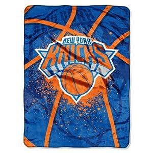 NBA New York Knicks Shadow Play Royal Plush Raschel Throw Blanket, 60x80-Inch by Northwest