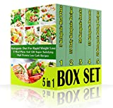 img - for Ketogenic Diet For Rapid Weight Loss BOX SET 5 IN 1: 3 Meal Plans And 126 Super Satisfying High Protein Low Carb Recipes: (Lose Belly Fat Fast, Ketogenic ... lose 10 pounds in a week , weight watchers) book / textbook / text book