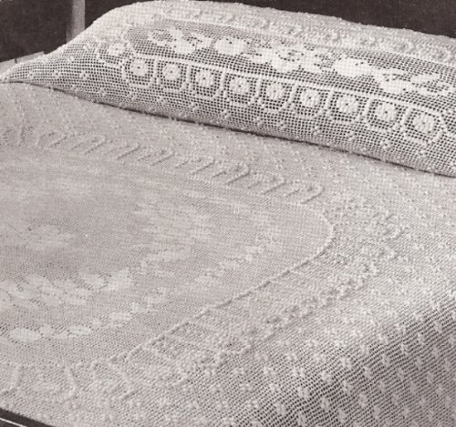 Vintage Crochet Pattern To Make Cameo Rose Filet Crochet Bedspread