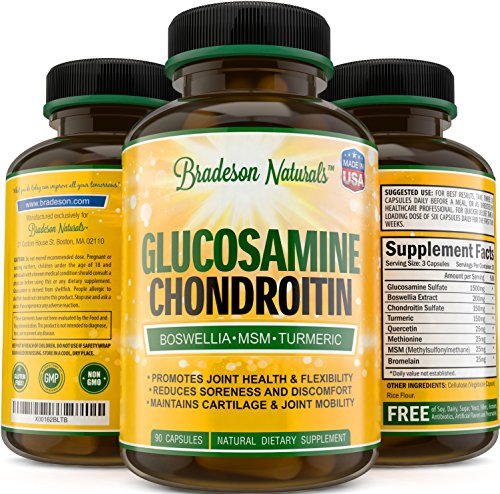 Glucosamine Chondroitin MSM Boswellia Quercetin & Turmeric. Joint Support Supplement. The Best Natural Way to Increase Flexibility and Joint Health. Natural, Non-GMO, Gluten Free, Made in the USA (Natural Made Flex compare prices)