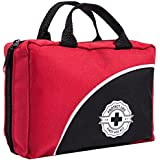 First Aid Kit for Car, Home, Travel, Office or Sports | Emergency and Survival bag fully stocked w/ high quality medical supplies