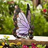 Solar Butterfly Decoration - Purple. Garden. Beautiful. Suitable for every yard and garden.Weatherproof.
