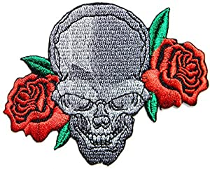 Amazon.com: Red Rose Ghost Skull Zombie Lady Biker Rider