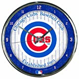 MLB Chicago Cubs Chrome Clock Amazon.com