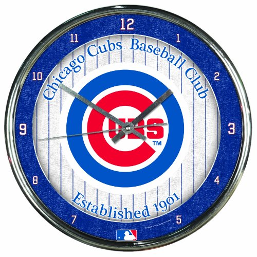 MLB Chicago Cubs Chrome Clock at Amazon.com