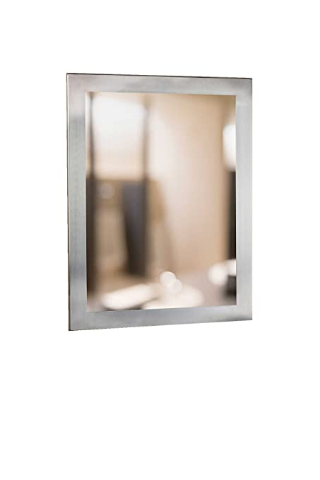 "Meek Mirrors M1360 1824 Charleston Decorative Stainless Steel Framed Mirror, 18""W X 24""H"