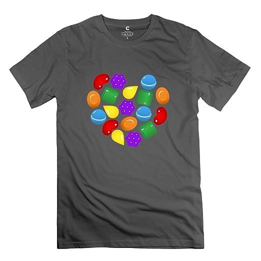 Candy Crush Saga Game Screw Neck T Shirts Size XL DeepHeather