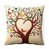 Pillowcase Covers, U'artlines Solid Pillow Case Decorative Cotton Linen Cushion Cover Pillowcase for Sofa Pillow Cover (Love)