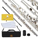 Glory Silver Plated Intermediate Open/Closed Hole C Flute with...