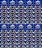 100 Pack LOOPACELL LR44 AG13 357 Button-Cell Batteries