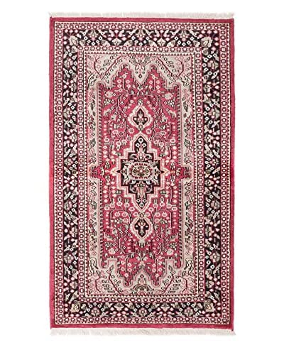 """eCarpet Gallery One-of-a-Kind Hand-Knotted Kashmir Rug, Dark Pink, 3' x 5' 1"""""""