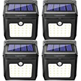 28 LEDs Solar Lights Outdoor, Luposwiten Solar Motion Sensor Lights Wireless Security Lights, 400 Lumen Waterproof Solar Powered Lights for Steps Yard Garage Porch Patio(4-Pack) (Color: 28 Led 4pack, Tamaño: (4 Pack))