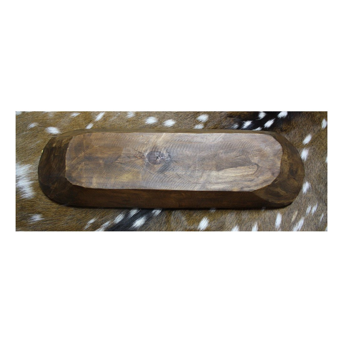 Carved Wooden Bowl Primitive Wood Trencher Tray Rustic Home Decor Guaranteed Quality