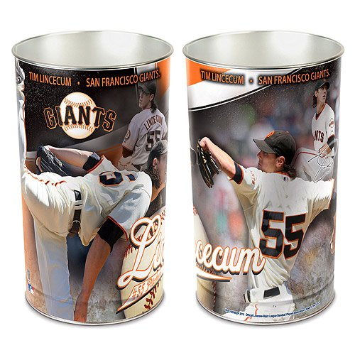 SAN FRANCISCO GIANTS TIM LINCECUM WASTEBASKET