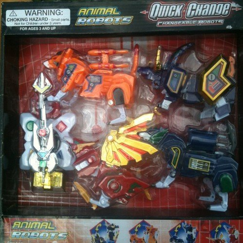 Quick Change Changable Robots Animal Robots