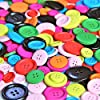 Pack of 40g Over 50pcs PAC Round Shaped Buttons in Multi Color and Multi Size