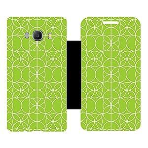 Skintice Designer Flip Cover with Vinyl wrap-around for Samsung Galxy J510 (2016), Design - Circle Pattern