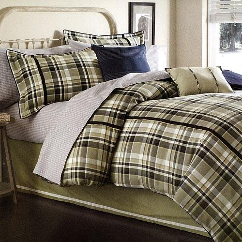 Dockers Sterling Plaid Comforter, Bed Skirt and Sham Set