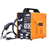 VIVOHOME Portable Flux Core Wire No Gas MIG 130 Welder Machine 110V (Color: MIG 130)
