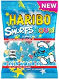 New Haribo The Smurfs Sour! Gummi Candy 4 oz Bag (12 Bags (Full Case))