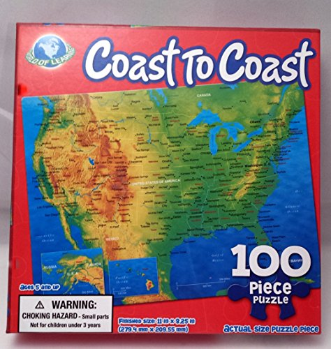 Coast To Coast-100 Piece Puzzle of The United States of America - 1