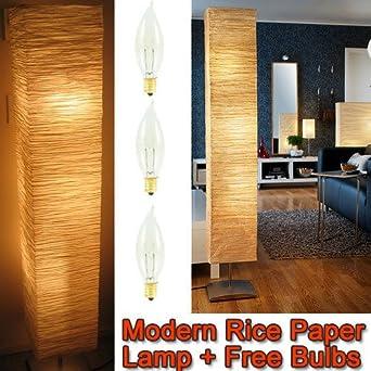 Rice Paper Shade Asian Floor Mood Lamp - Paper Lantern