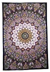 Star Elephant Tapestry – Green & Purp…