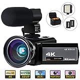 ACTITOP HDV-UHD-02 Video Camcorder, Video Camera 48MP UHD Wi-Fi Digital 16X Zoom IR Night Vision 3