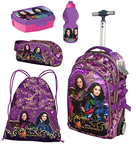 Disney DESCENDANTS FAIREST super set zaino Trolley Astuccio portamatite sacco sport scuola ragazza bambina