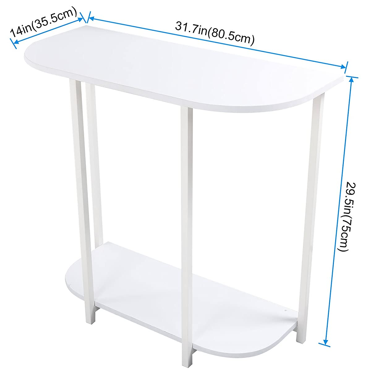 Lifewit Modern 2-tier Console Table Entryway Table, White