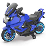 HOVERHEART Kids Electric Power Motorcycle 6V Ride On Bike (Blue) (Color: Blue)