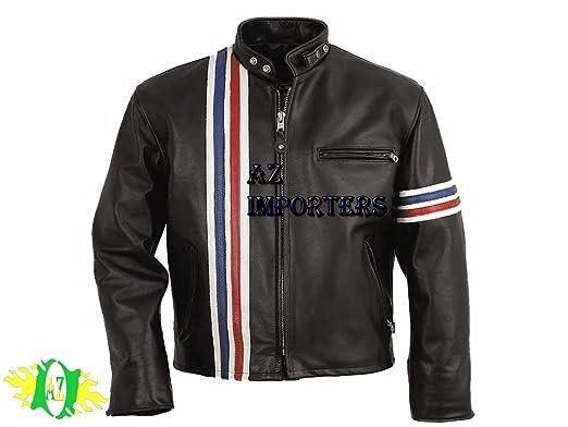 AZ New Premier de Captain America Veste de moto en cuir personnalisé pour toutes les tailles