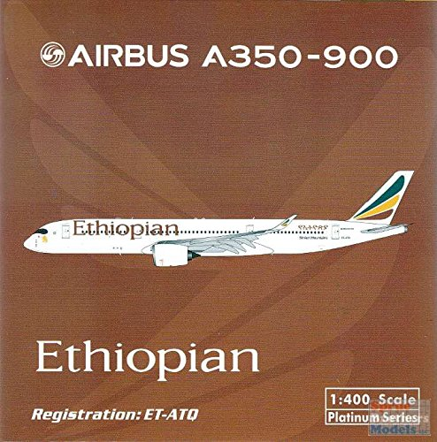 PHX1502 1:400 Phoenix Model Ethiopian Airbus A350-900 REG #ET-ATQ (pre-painted/pre-built) (Phoenix Models compare prices)