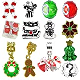 Timeline Trinketts Rhinestone Charm Bracelet Beads Fits Pandora Jewelry European Style - Merry Christmas