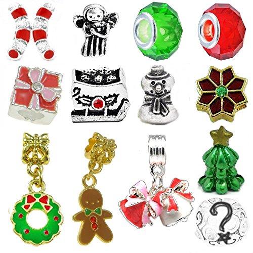 Christmas Beads and Charms for Pandora Charm Bracelets