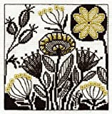 DMC Flower Collection Blackwork Cross Stitch Kit BK1354