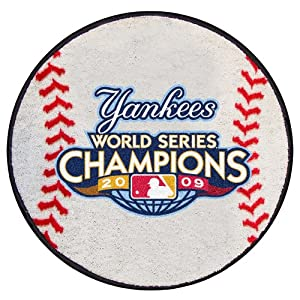 "New York Yankees 2009 MLB World Series Champions 29"" Round Baseball Area Rug Floor Mat"