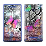 Butterfly Wall Design Protective Decal Skin Sticker (High Gloss Coating) for HTC Windows 8X Cell Phone