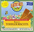 Earth's Best Organic Teething Biscuits, 4.6 Ounce Boxes (Pack of 12) by Hain Group (Earth's Best)