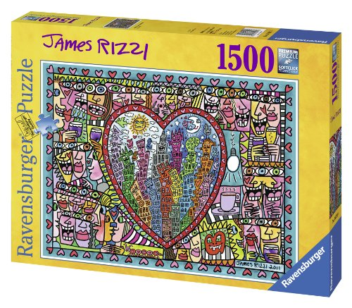 Ravensburger James Rizzi: All that Love in The Middle of The City Jigsaw Puzzle (1500-Piece)