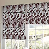 Presto Bazaar Brown Floral Printed Window Blind (48 Inch X 44 Inch)