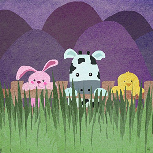 Green Leaf Art Farm Little Animals I Canvas Art