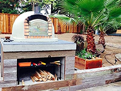 Brick Pizza Oven, Insulated, Wood Fired, Handmade in Portugal, Brick or Stone Face