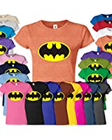 Batman Womens Ladies Girls Fitted Tee T-shirt Sweatshirt Top New Design Bat man T Shirt S M L XL Many Colors & sizes Available by SnS Online