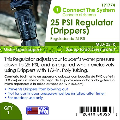 galleon mister landscaper mld 25pr 25 psi drip irrigation pressure regulator. Black Bedroom Furniture Sets. Home Design Ideas