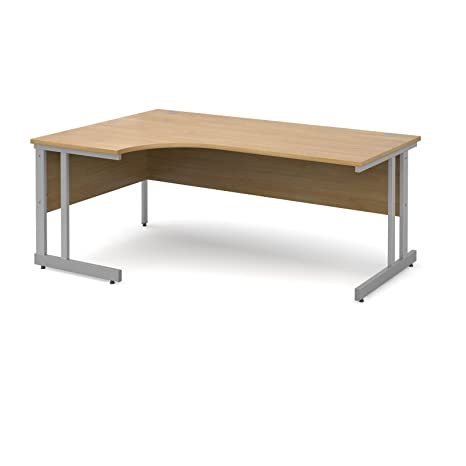 DAMS Momento Light Left Handed Ergonomic Desk, Wood, Oak, 1800 mm