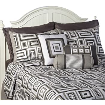 Inspirational Castle Hill piece Comforter Set Cotton GEO King Size