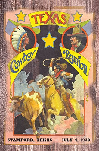 POSTER PRINT Texas Cowboy Reunon Rodeo 1930 11 x 17 old west (Vintage Rodeo Posters compare prices)